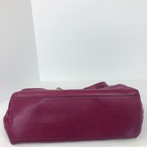 Coach Bags - Auth Coach pebbled leather berry Pink Tote Bag